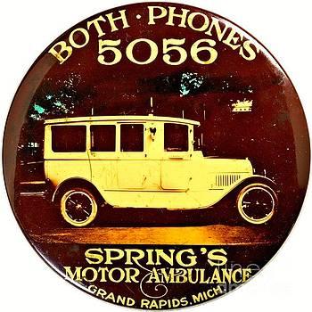 Springs Motor Ambulance Grand Rapids Michigan 1915 by Peter Ogden