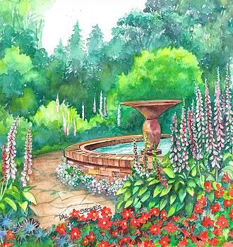Springtime Fountain by Val Stokes