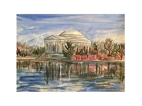 Springtime Jefferson Memorial by Angela Puglisi