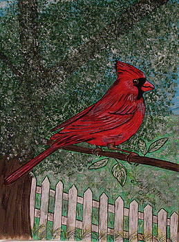 Springtime Red Cardinal by Kathy Marrs Chandler