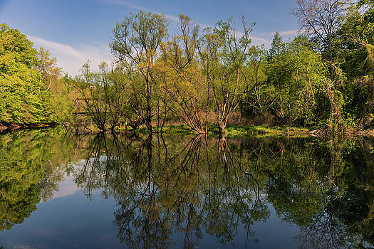 Springtime Reflections on the Valley River by Kelly Kennon