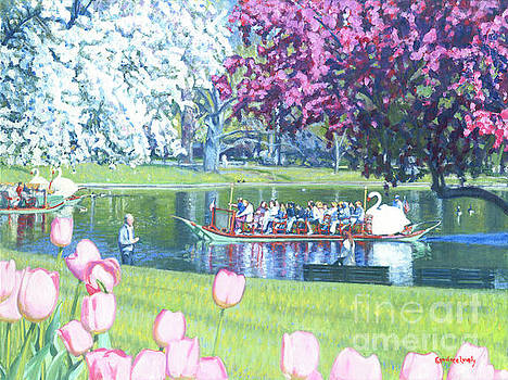 Springtime Swan Ride  by Candace Lovely