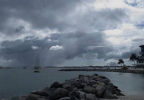 Squall in Simpson Bay St Maarten by Christopher Kirby