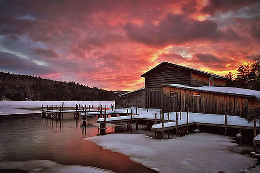 Squam Lake Sunset by Robert Clifford