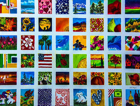 Square studies by Vickie Myers