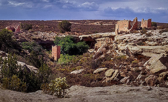 Square Tower over view at Hovenweep by John Brink