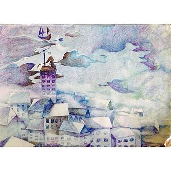 #squaready #artwork #colorpencil by Kang Choon Wong