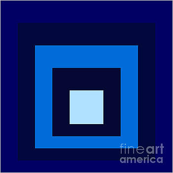 Squares Blue by Peter  Schoenbohm