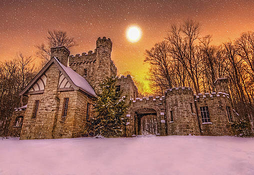 Squires Castle in the Winter by Brent Durken