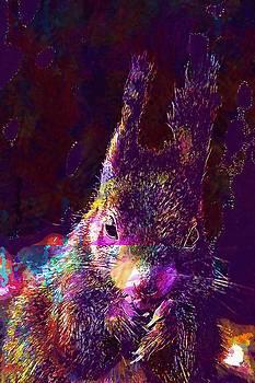 Squirrel Animals Nature Portrait  by PixBreak Art