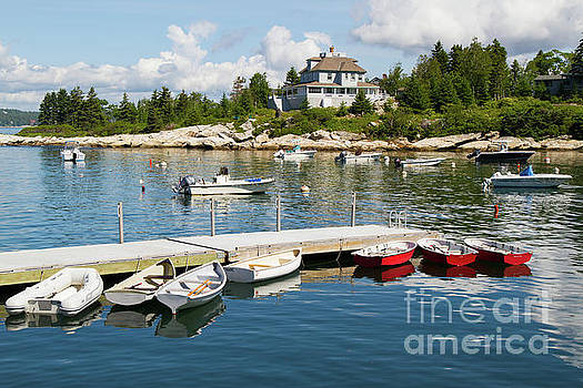Squirrel Island Harbor by Denise Lilly