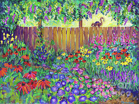 Squirrel's View by Peggy Johnson by Peggy Johnson