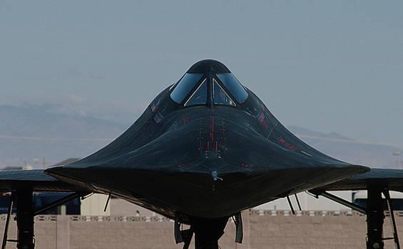 SR-71 Blackbird Closup by John Clark