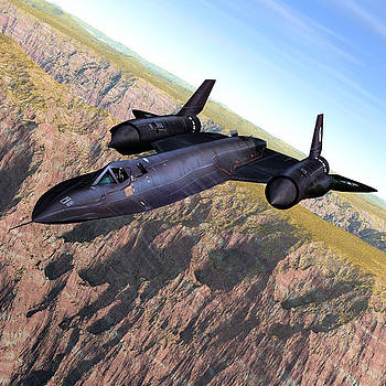 SR-71 Over the Canyon by John Hoagland