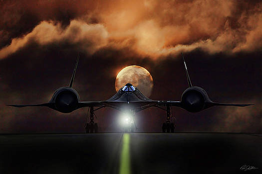 SR-71 Supermoon by Peter Chilelli