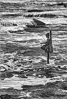 Steve Harrington -  Sri Lanka - Stilt Fisherman 2 bw