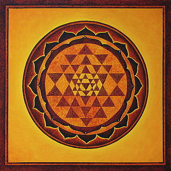 Sri Yantra - the glow of the beloved by Erik Grind