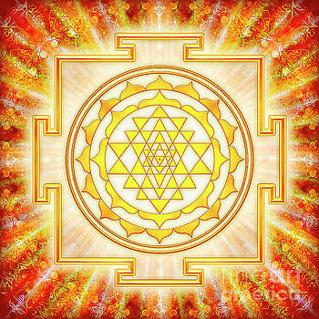 Sri Yantra - Artwork Light by Dirk Czarnota