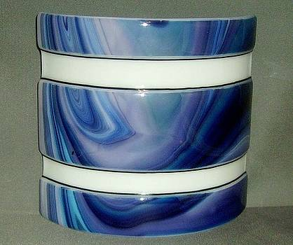 Sriped Blue Swirl Mood Lamp by Craig Gill
