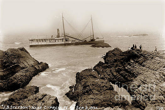 California Views Mr Pat Hathaway Archives - S. S. J. B. Stetson shipwreck near Cypress Point Sept 3 1934