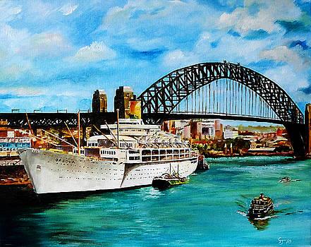 S.S. Orsova Alongside Circular Quay, Sydney by Steve James