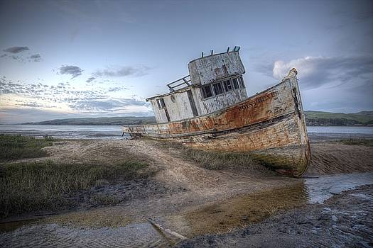 John King - SS Point Reyes in Inverness Before Demolition