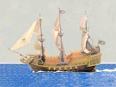 SS Ship Watercolor by Sajjad Musavi