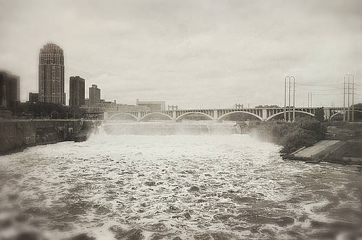 St. Anthony Falls in Spring by Heidi Hermes