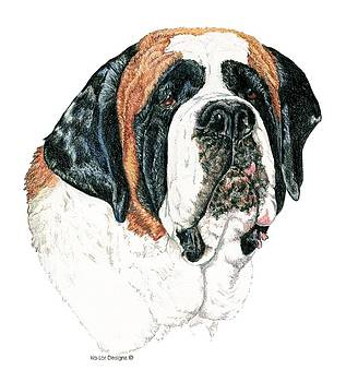 St. Bernard, Smooth Coat by Kathleen Sepulveda