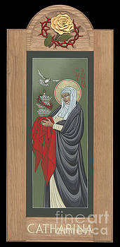 St Catherine of Siena with frame by William Hart McNichols