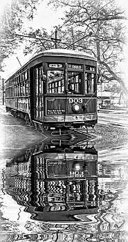 Steve Harrington - St. Charles Streetcar 2 - Reflection bw