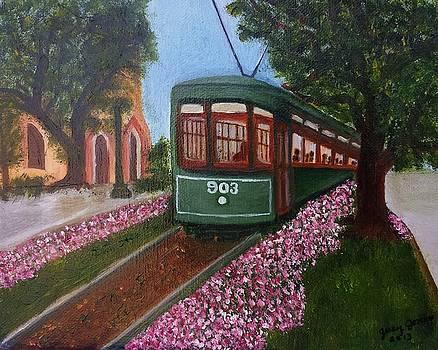 St. Charles Streetcar Line by Judy Jones