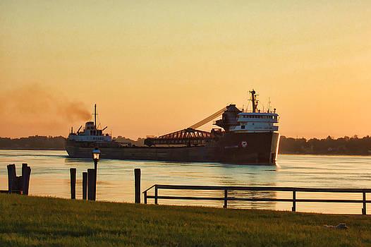 St. Clair River Ship by Paul Bartoszek