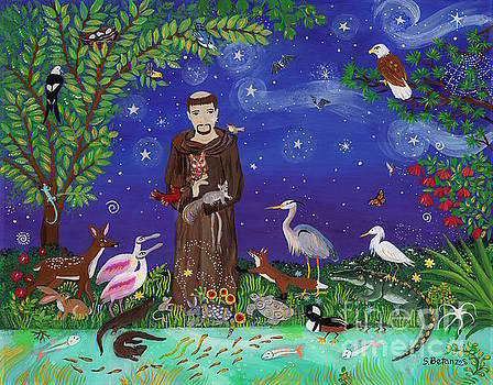 St. Francis Guardian of Florida Eagle Forest by Sue Betanzos