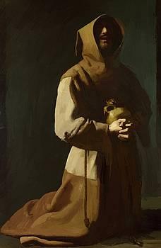 Zurbaran Francisco de - St Francis Kneeling 1639