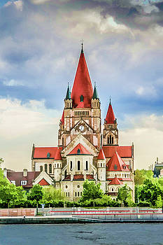 Lisa Lemmons-Powers - St. Francis of Assisi Church from the Danube I