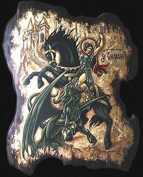 st George fighting the Dragon by Iosif Ioan Chezan
