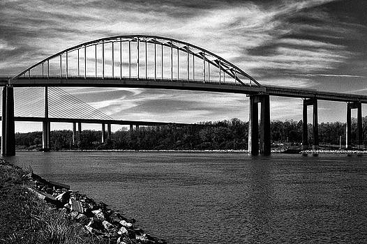 St. Georges Bridge in Black and White by Bill Swartwout