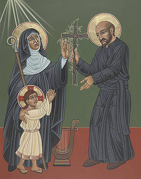 St Hildegard and St Ignatius- Viriditas  by William Hart McNichols