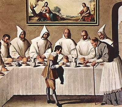 Zurbaran Francisco de - St Hugh Of Cluny In The Refectory Of The Carthusians 1633