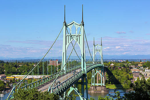St Johns Bridge over Willamette River by David Gn