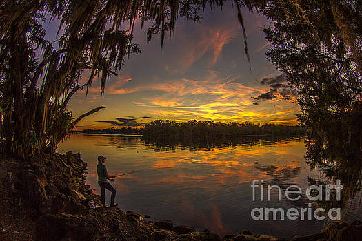 St. John's River Camping by Adrian E Gray