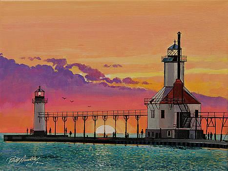 St. Joseph, MI Lighthouse by Bill Dunkley