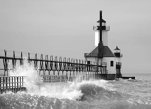 St, Joseph Pier and Lighthouse by Laura Greene