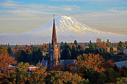 St Joseph with Mt Rainier by Jack Moskovita