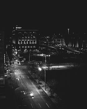 St. Louis At Night From Rooftop by Dylan Murphy
