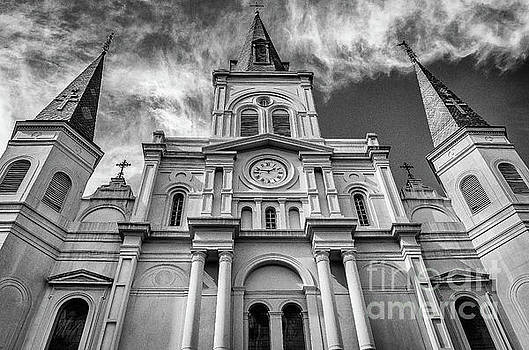 Kathleen K Parker - St. Louis Cathedral-BW-NOLA