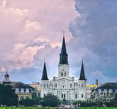 St. Louis cathedral French Quarter  by Paul Wilford