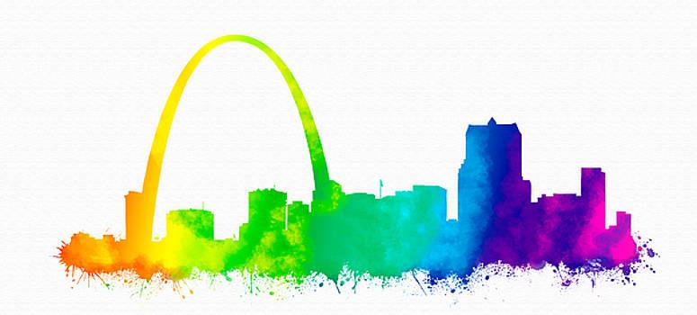 Vyacheslav Isaev - St. Louis city rainbow skyline