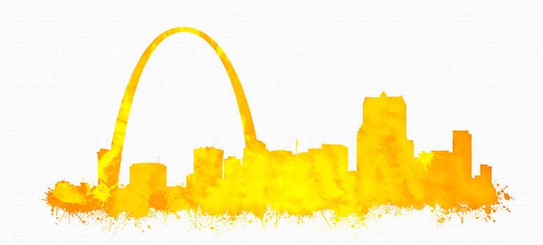 Vyacheslav Isaev - St. Louis city skyline in orange